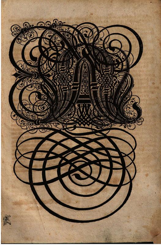 Always Otherwise lettering presciently created by Paulus Franck for his 1601 book,  Schatzkammer Allerhand Versalien Lateinisch vnnd Teutsch