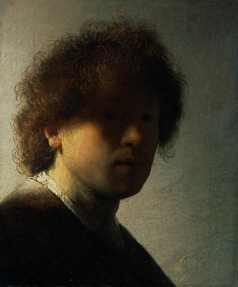 Self-portrait at an Early Age  (1628) by Rembrandt. Image courtesy of  Rijksmuseum .
