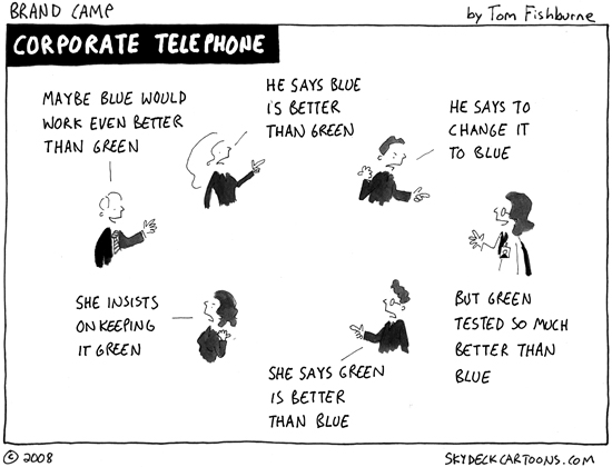 A great and distressingly realistic cartoon by Tom Fishburne. Check out more of his work  here .