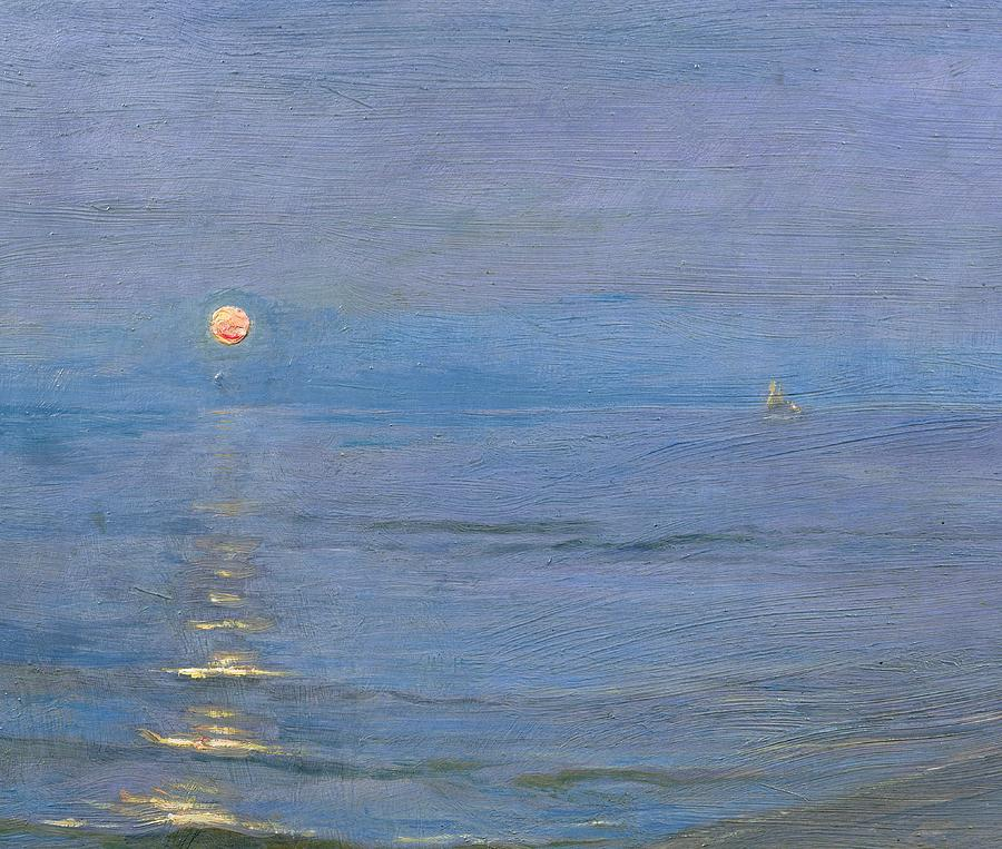 Summer Evening  (1908) by P. S. Kr  ø  yer