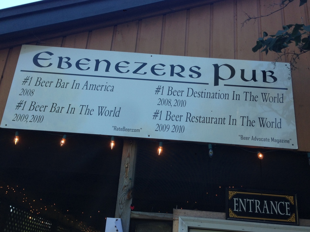 Welcome to Ebenezer ' s. Pull up a chair and try one of their sour ales.