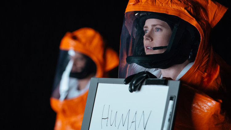 Oh, Louise the Human. What did you (will you?) ever see in that future dirtbag. Still image from  Arrival  property of Paramount Pictures.