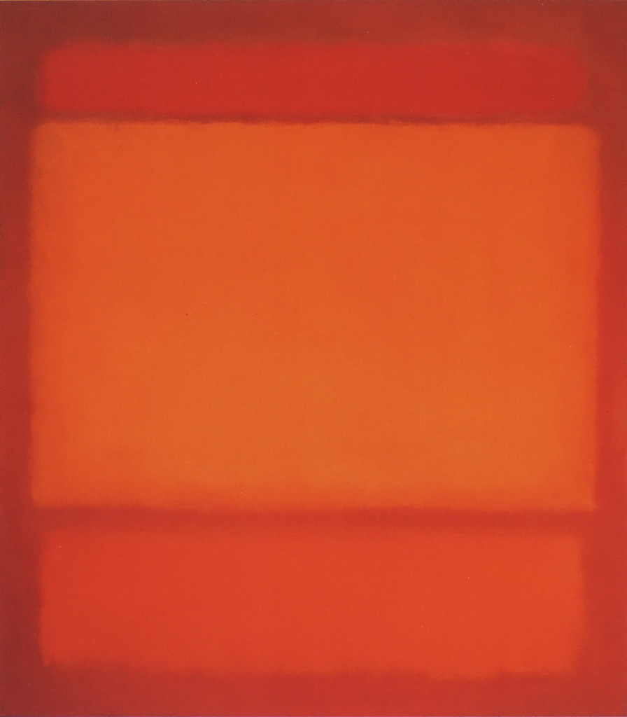Red Orange Orange On Red 1962   by Mark Rothko. A sort of abstract visual haiku, if you will...