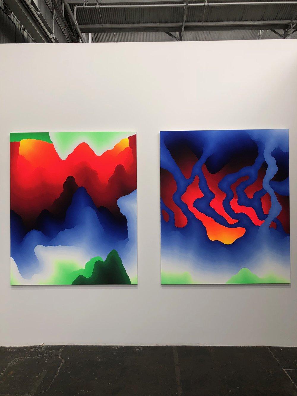 Untitled works by Sam Friedman.
