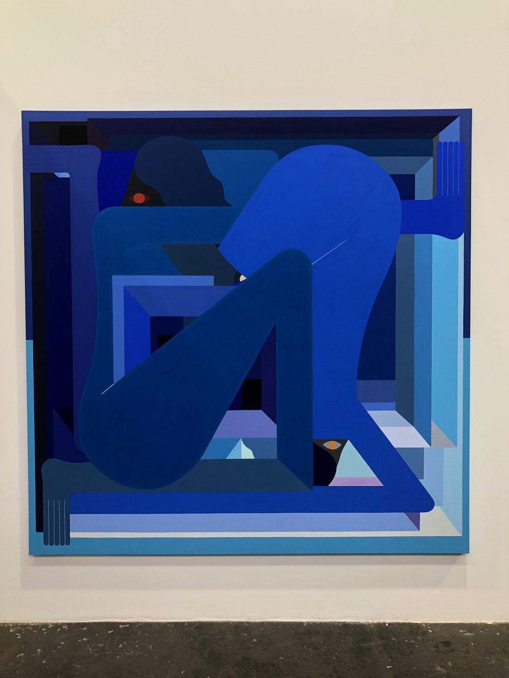 Blue Figure  by Richard Colman