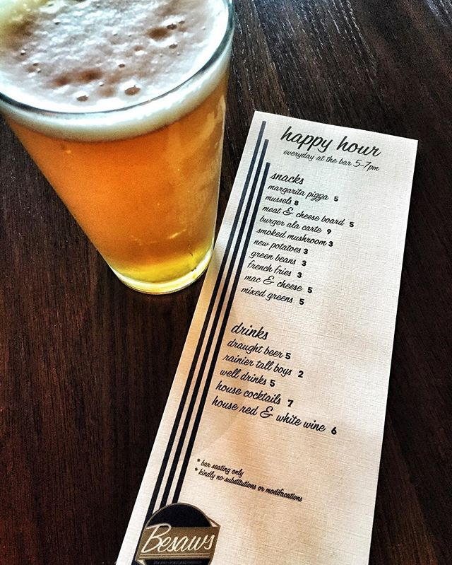 Come on down and see Beth for Happy Hour at the bar! 5-7pm everyday at the bar only!