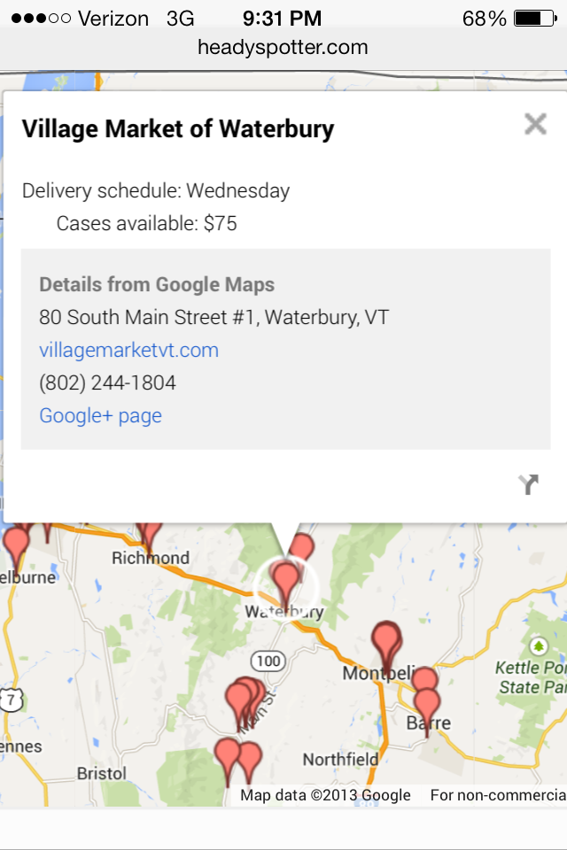Click to find a retail store or bar stocking Heady Topper using the mapped locations including delivery date.
