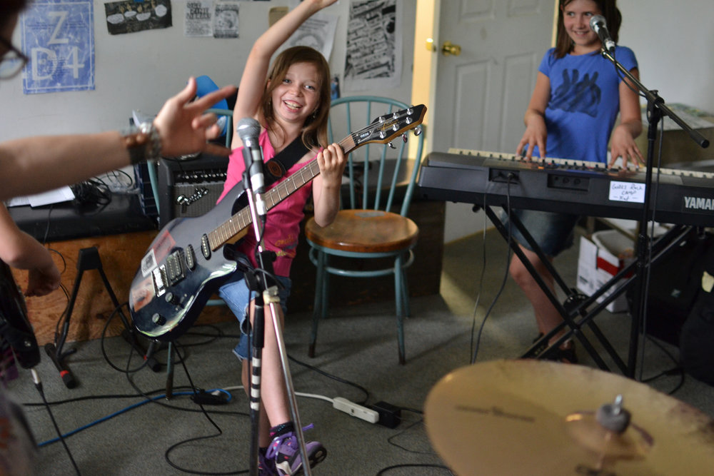 Other ways to donate - Girls Rock Camp Toronto is always in need of musical equipment to keep our campers rocking!We feed our campers and volunteers at least one healthy meal a day. Food donations and preparation help are always appreciated.