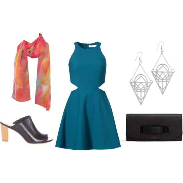 Shoes: Amour Vert / Dress: Rent the Runway (Elizabeth and James) / Earrings: Mata Traders / Clutch: Matt & Nat