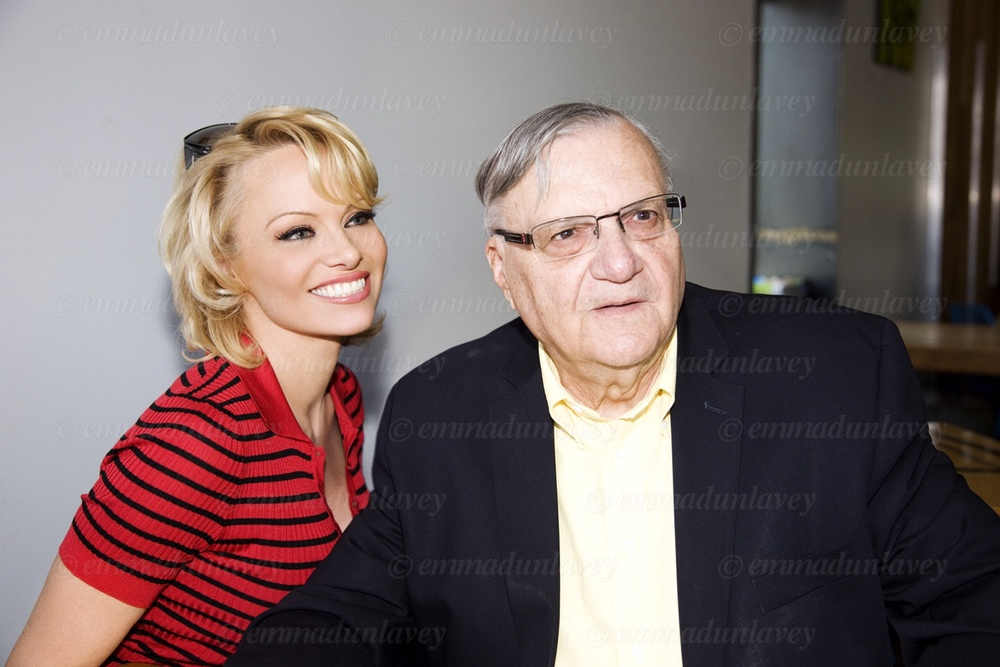 Pamela Anderson was in town Wednesday to serve inmates their lunches - to help promote Sheriff Joe Arpaio's all-vegetarian meal program at Maricopa County Jail. She hopes the meal initiative stands as a model for prisons and jails across the country.