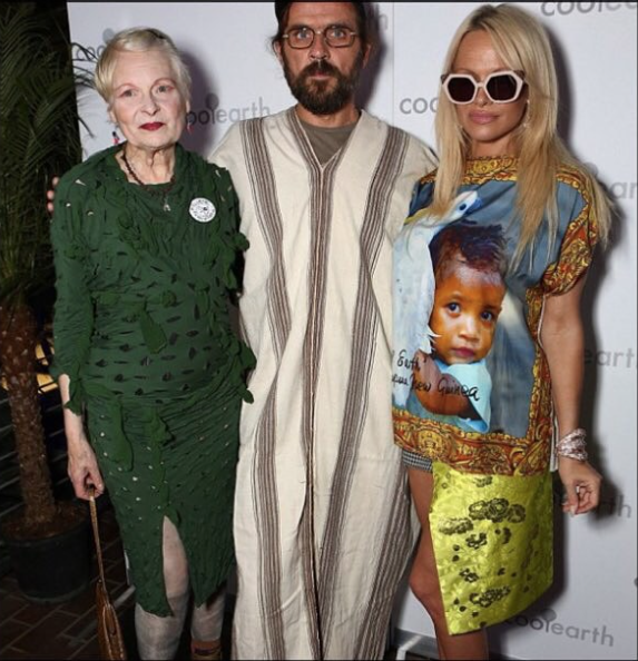 Cool Earth's Vivienne Westwood, Andreas Kronthaler and Pamela Anderson
