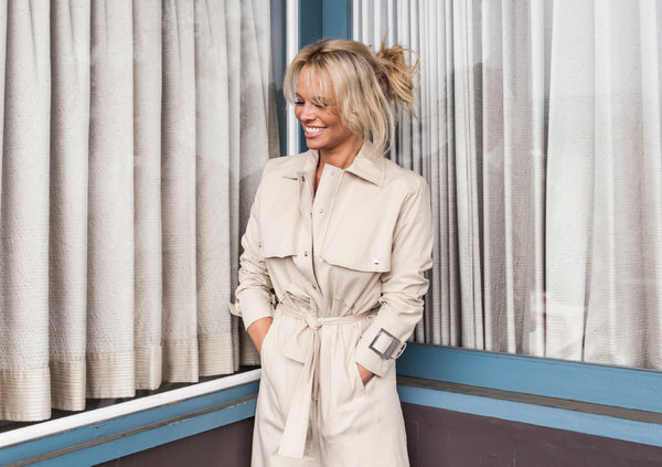 Pamela Anderson posed for a portrait at the photographer Luke Gilford's home in the Hollywood Hills. Emily Berl for The New York Times