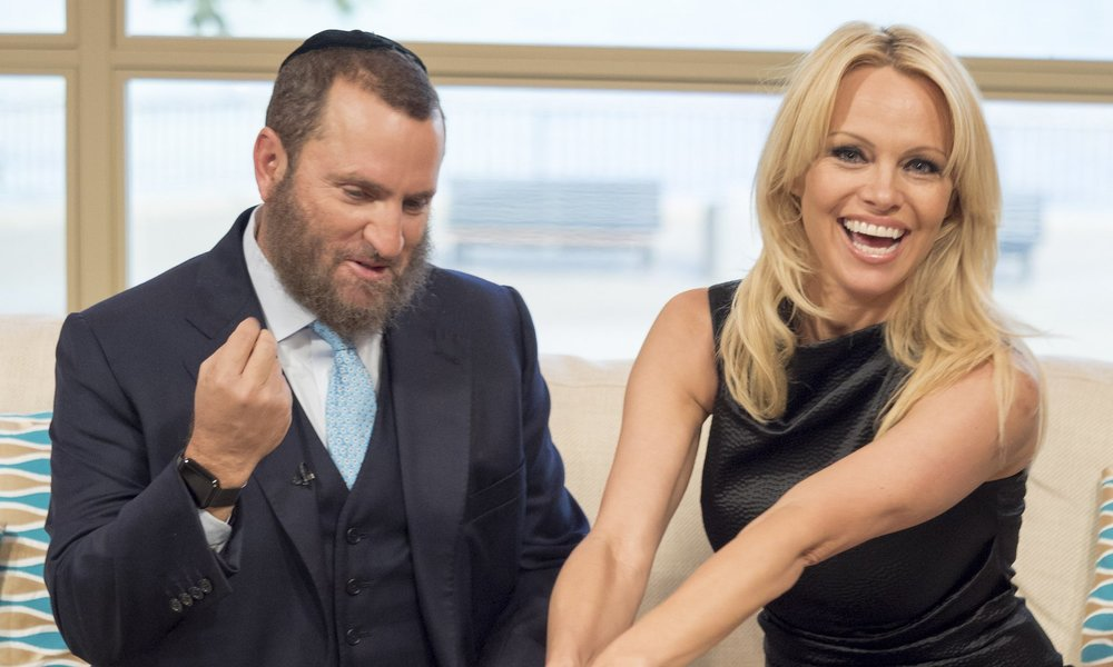 Shmuley Boteach and Pamela Anderson described porn and its ubiquity online as 'a public hazard of unprecedented seriousness'. Photograph: Ken McKay/ITV/Rex/Shutterstock
