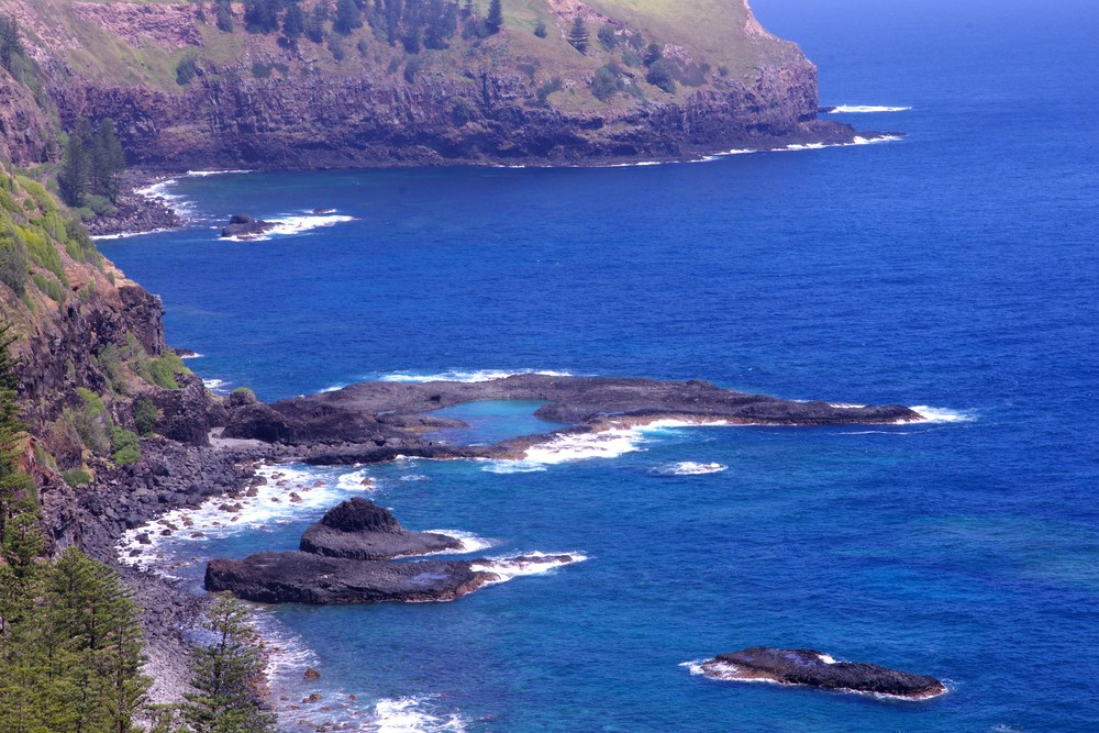 The chord/Anson Bay, Norfolk Island,