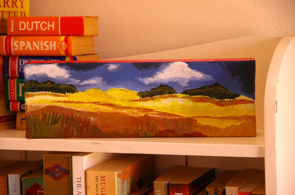 Landscape in Gold...on a shelf for scale