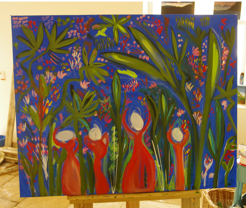 A larger 80x100cm painting in progress...the largest of this subject so far.