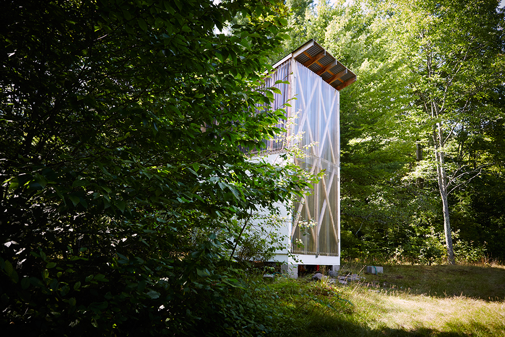 One of the artist studios at The Shandaken Project