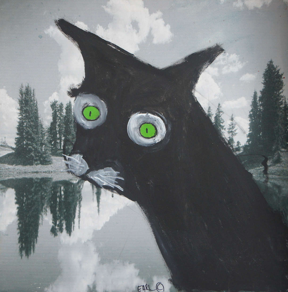 Evil Cat 2014 by Earl Swanigan. Courtesy of Gottlieb Gallery, Hudson, NY