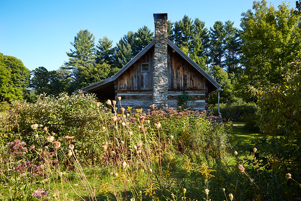 The circa 1840 cabin built by Scottish settlers