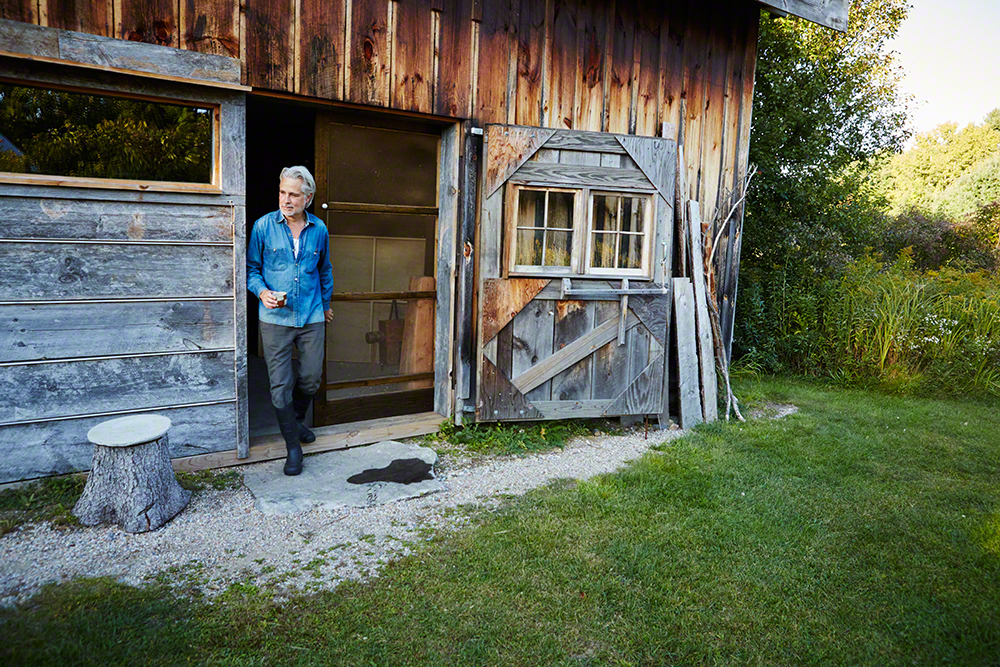 Much of Philippe's work is executed in his barn - one luxury of living Upstate