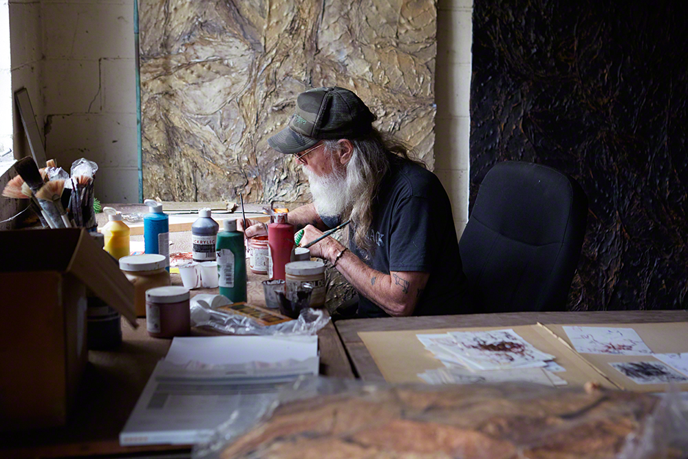 Osterhout at work in his studio