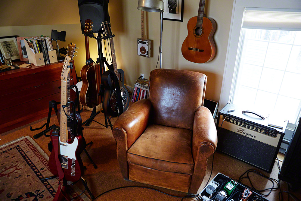 A few guitars from his collection