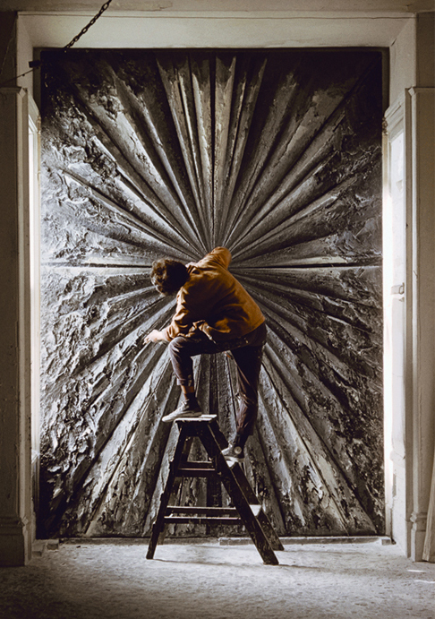Jay DeFeo working on The Rose, circa 1960. Ph: Burt Glinn/Magnum Photos