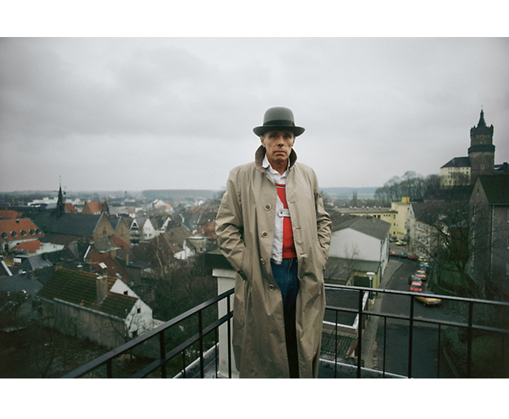 Joseph Beuys in Düsseldorf, Germany 1978  Ph: Gerd Ludwig