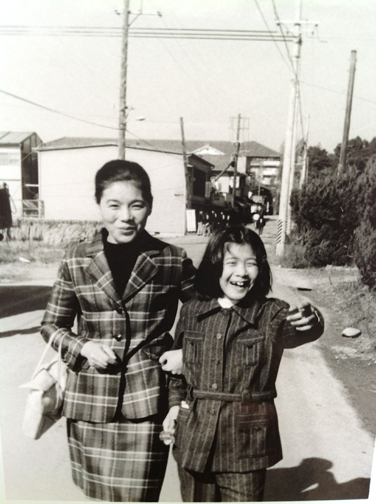 With her Mother Kazuko in Japan