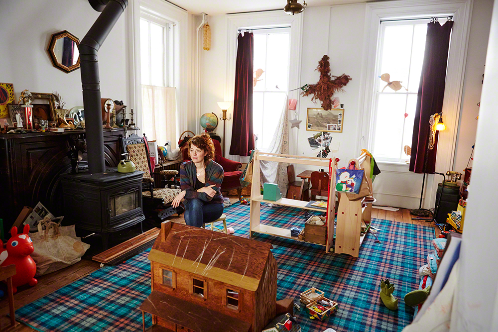 Auf Der Maur in the living room — aka Rivers Playroom.