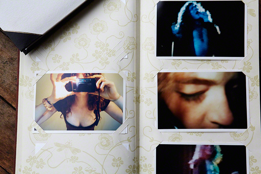 Self Portraits & Robert Plant on TV , 1998                                                                                                 All photo albums in this feature are  courtesy  of Melissa Auf Der Maur.