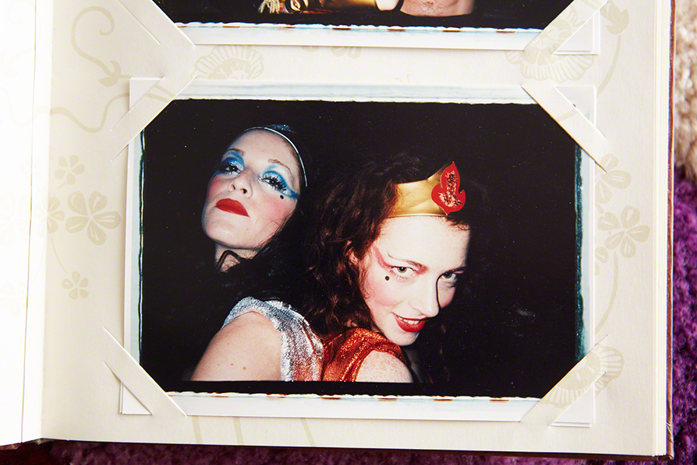 Melissa with Sarah Sophie Flicker, Halloween. Los Angeles, 1998
