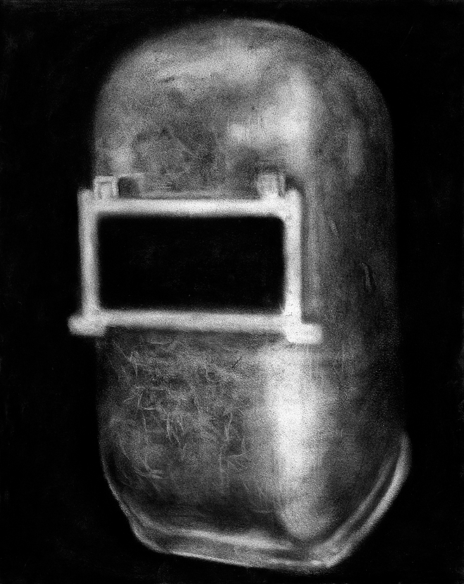 Nine II , from  Nine  series. Charcoal on paper.