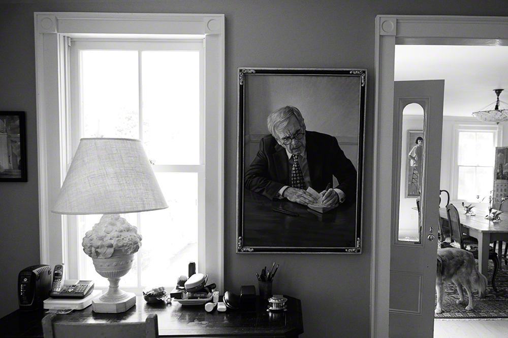 A portrait of his father, Dominick Dunne.