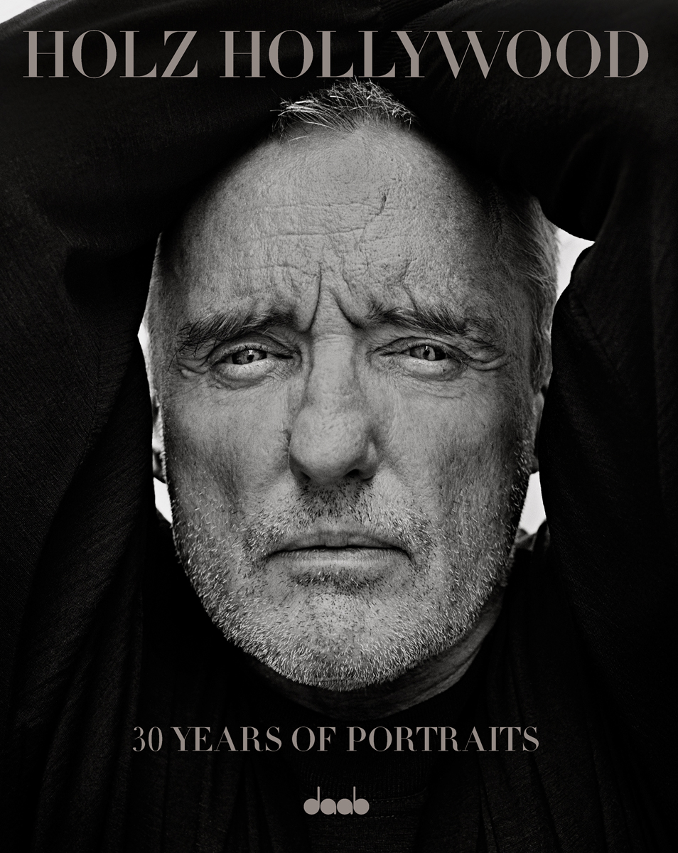 "Late Dennis Hopper on the cover of ""30 Years of Portraits"" by George Holz"