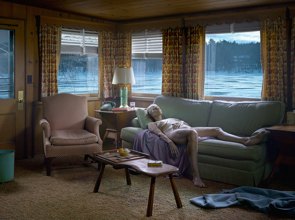 Reclining Woman on Sofa , 2014 Digital Pigment print.  © Gregory CrewdsonCourtesy of  Gagosian Gallery