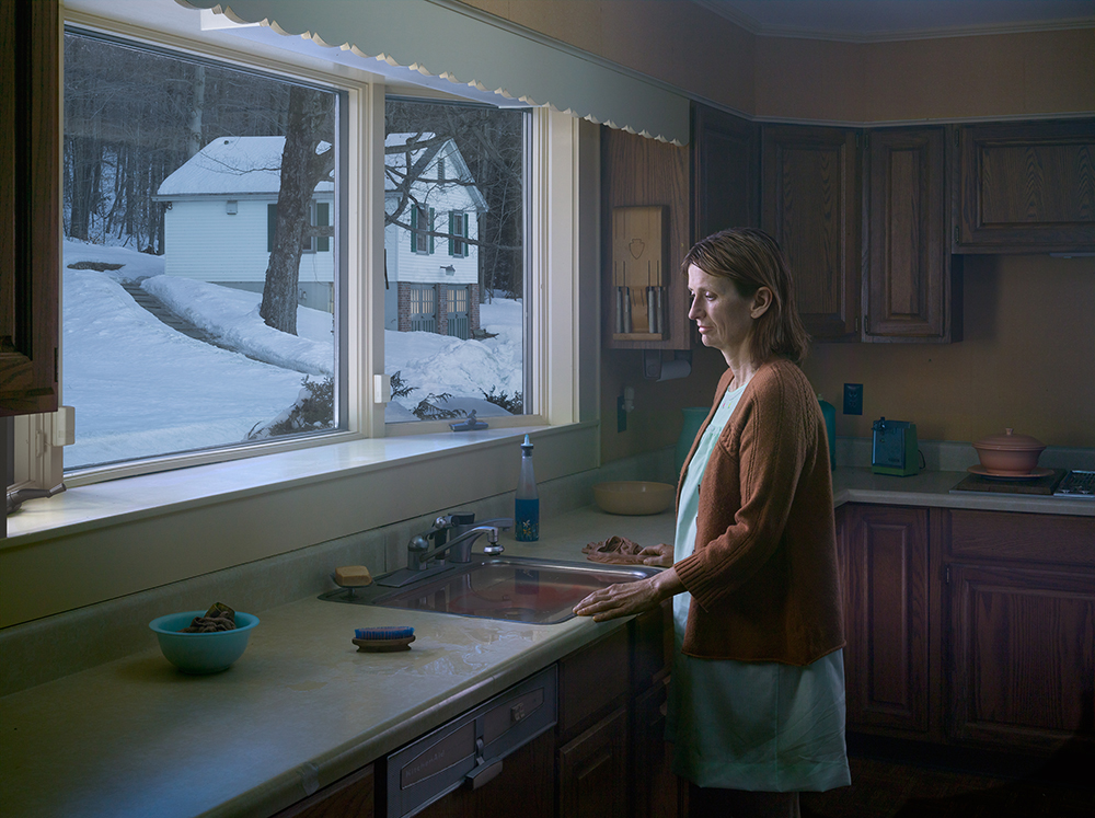 Woman at Sink, 2014 Digital pigment print.  © Gregory CrewdsonCourtesy of Gagosian Gallery