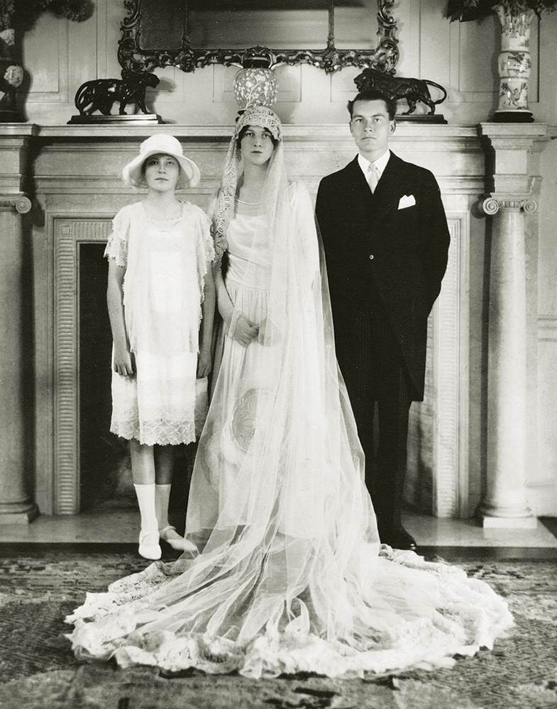 Margaret with Deb and Olin on her wedding day. The photograph was taken by Ira L. Hill, whose fashionable society portraits appeared in Vogue and Vanity Fair in the 1920s.