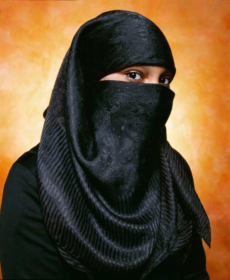 Aya Basemah Convert To Islam (America),  2002   by Andres Serrano.