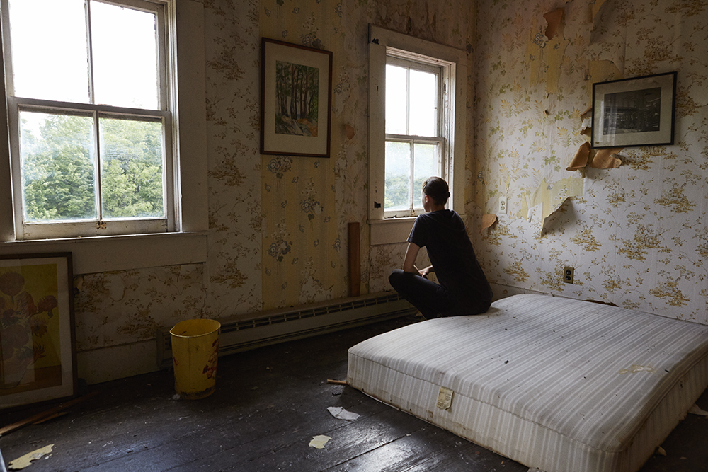 Rothen in one of the bedrooms in 2015. Ph: Kate Orne