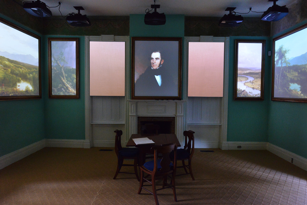 Portrait of Thomas Cole , 1838, (projection) by Asher B. Durand, Berkshire Museum.