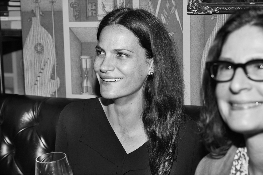 Missy Rayder, co-founder of Penumbra Obscura, next to Jeannette Montgomery Barron, whose breathtaking portrait of Kathryn Bigelow was featured on the cover of Issue No 2.