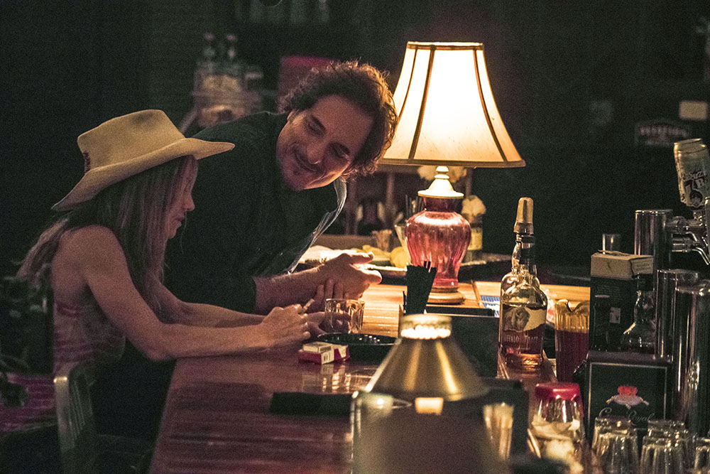 Holly Hunter with Kim Coates as Clayton Watson. Photo: Brainstorm Media