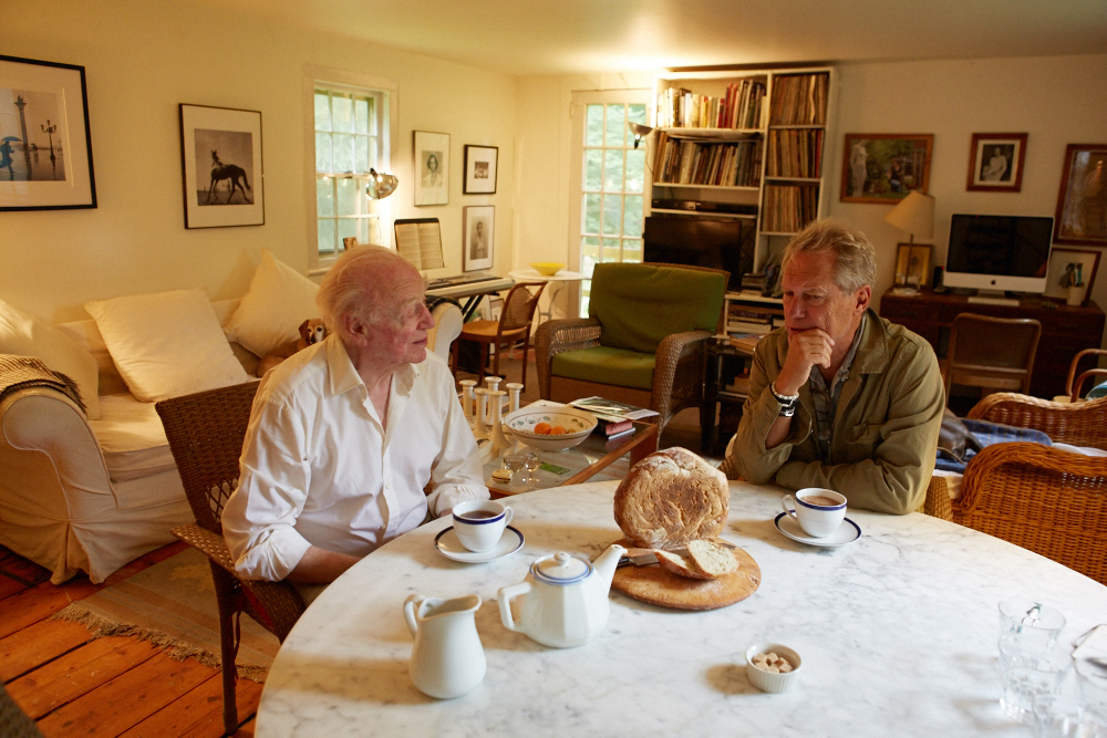 Dmitri and Gerry over tea & home made bread.