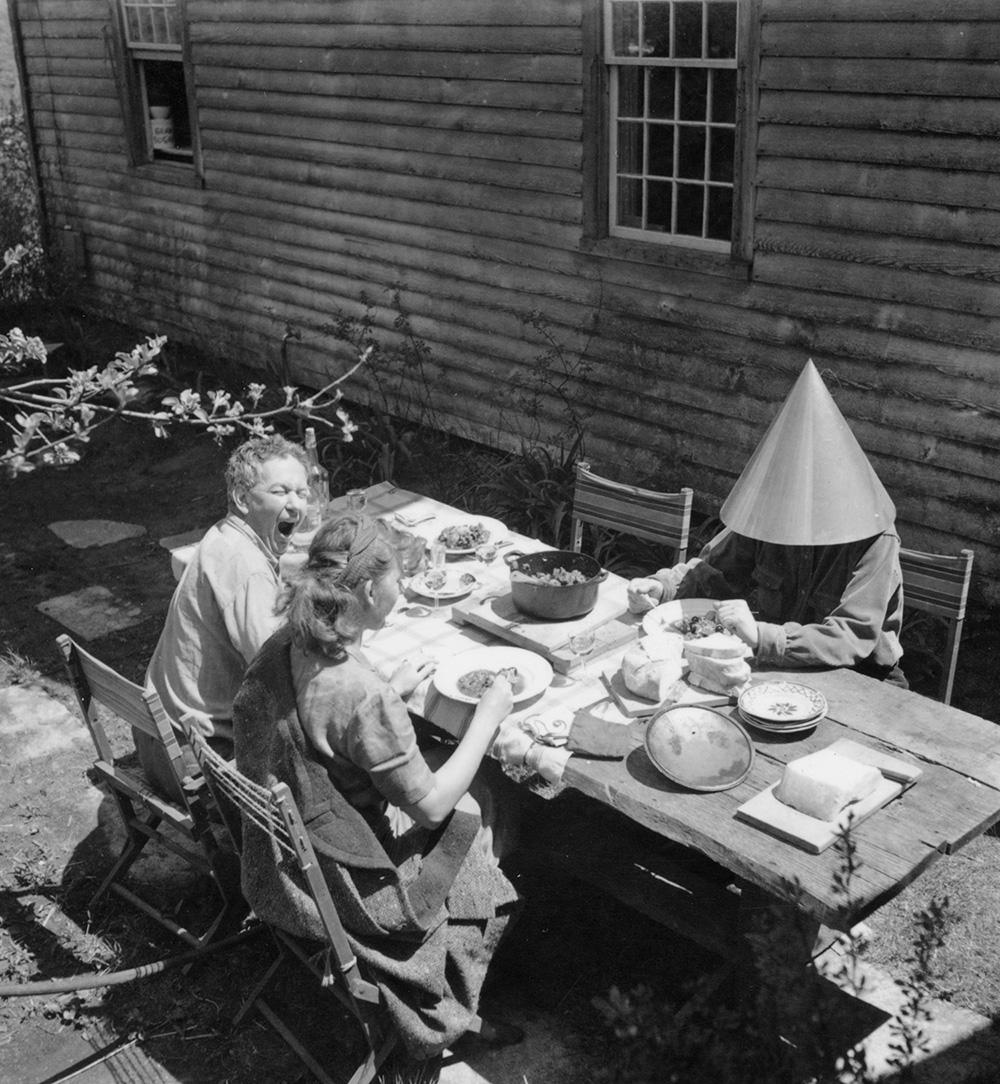 Calder and his wife Louisa having lunch with Stamo Papadaki,c. 1938.