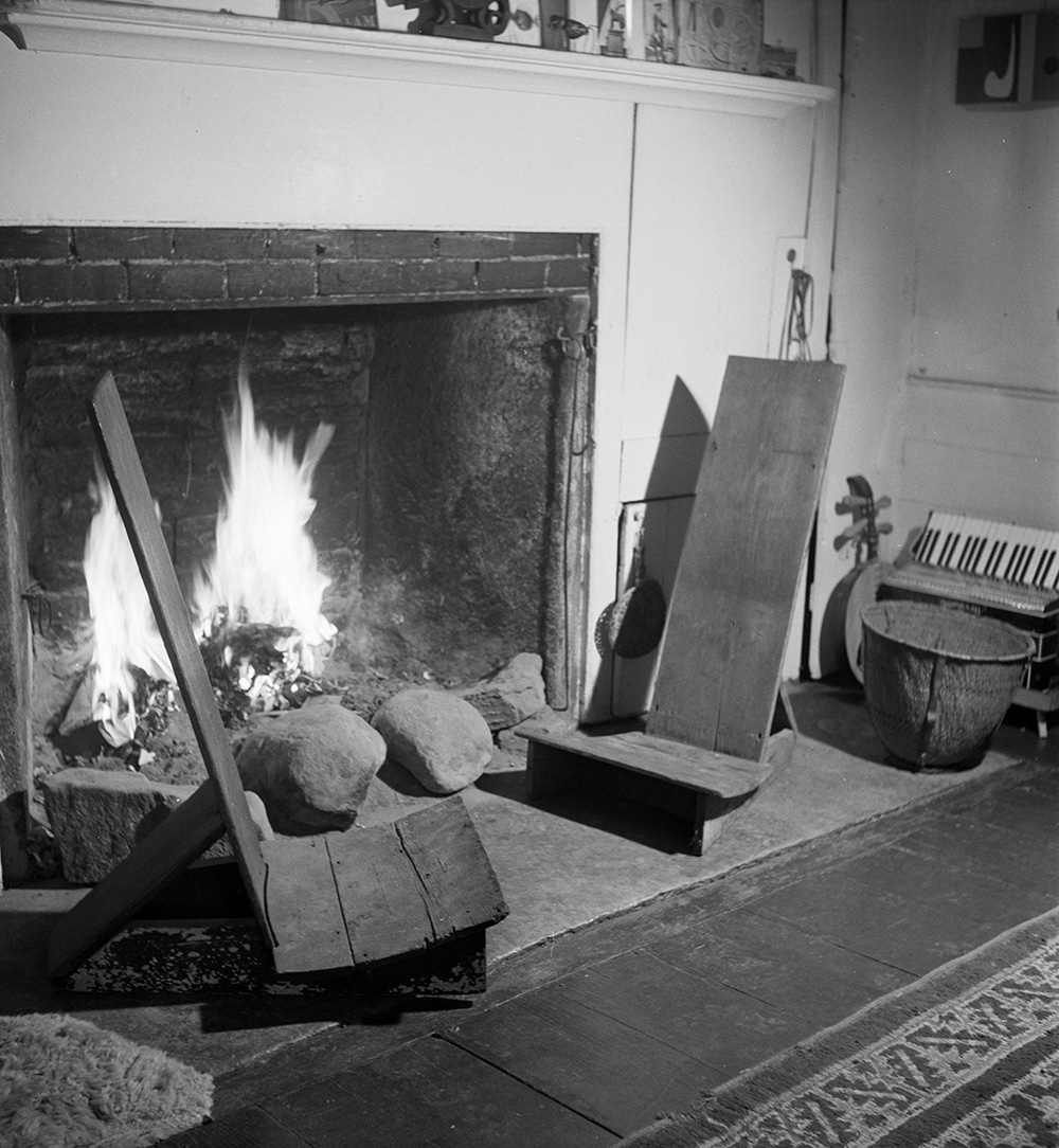 """Chairs,  (c. 1935), and  Untitled,  (1945), Roxbury House """"front room,"""" 1950."""