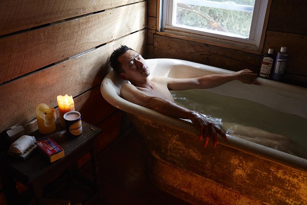 Koh in the bath.