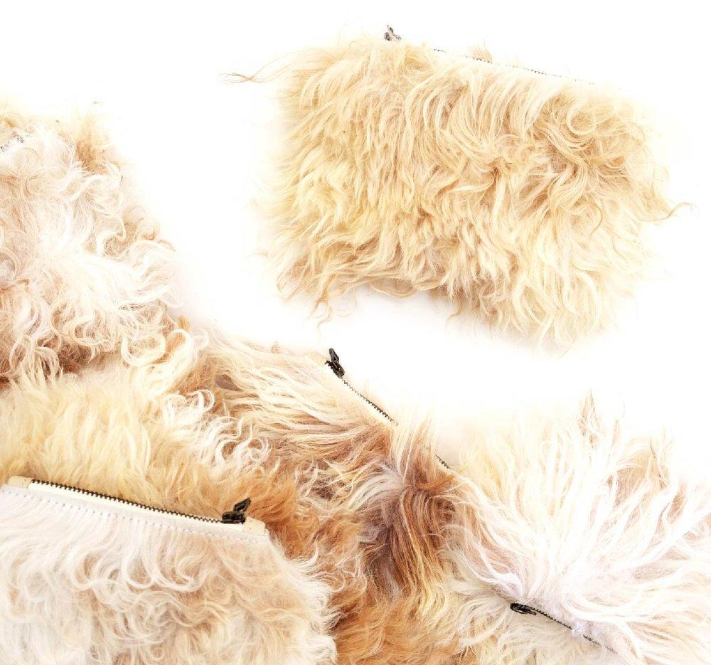 fur pouches