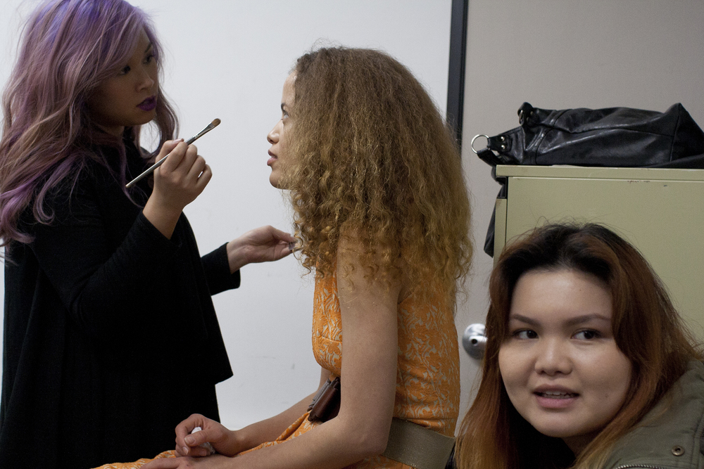 Makeup artist Grace Fong, Model AnJelika Frye and Wardrobe Stylist Jerrie Fu.