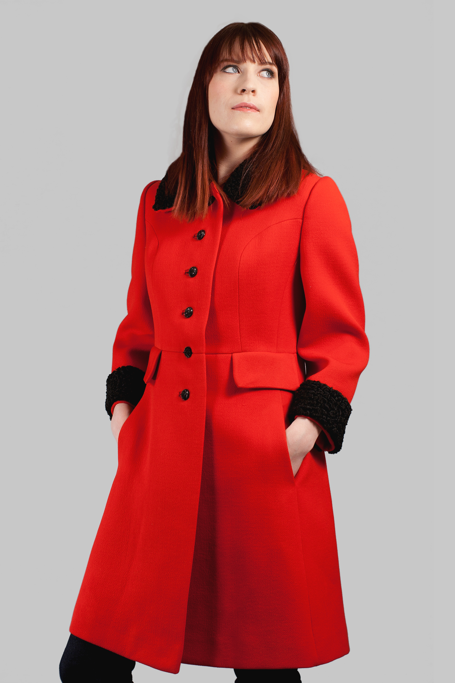 Vintage Rothmoor Red and Black Coat — Afrobeatnik